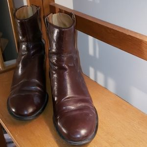 Nine West Brown Leather Booties